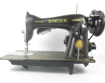 Vintage Singer Sewing Machine, Black, Victorian, Antique Decor, Ornate, Parts Machine, Photo Prop