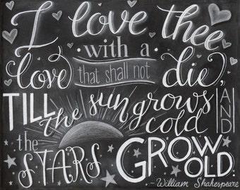 """Chalkboard PRINT """"Shakespeare"""" - Shakespeare Quote Chalkboard Art"""