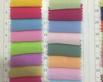 Custom Colors ,Chiffon Color Chart ,Color Choice for Chiffon Evening & Prom Dress (Not for Sell )