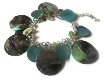 Blue Mother of Pearl Bracelet
