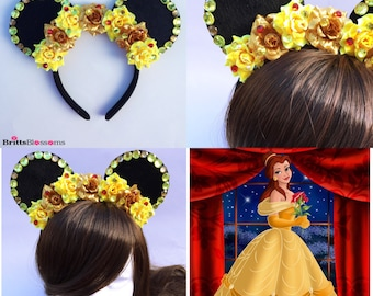 Belle Mouse Ears, Beauty and The Beast, Minnie Mouse Ears, Mickey Mouse Ears, Disneyland, Disney World, Disney Princess
