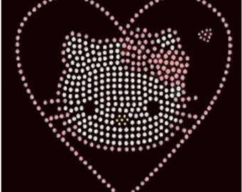 Hello Kitty Rhinestone Iron on Transfer VDML