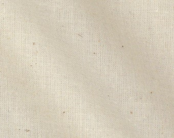 "Muslin Fabric Natural, 60"" Wide 100 Percent Cotton Fabric By The Full Yard"