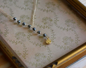 Necklace STAN gilded end stones