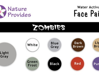Zombie Face Paints in Assorted Colors Vegan Natural Pigments for a Safer Holiday Create Undead Characters Long-lasting Wear Washes Off Easy