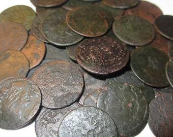 Four (4) Medieval Johann Casimir Boratyn Copper Schillings 1600's Kingdoms of Poland and Sweden for Twelve Dollars!!