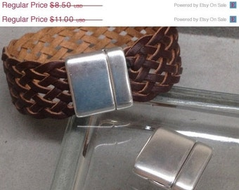 On Sale NOW 25%OFF Smooth Rounded Magnetic Clasp  For Leather Cord 5-20mm  Antique Silver C650 Qty 1