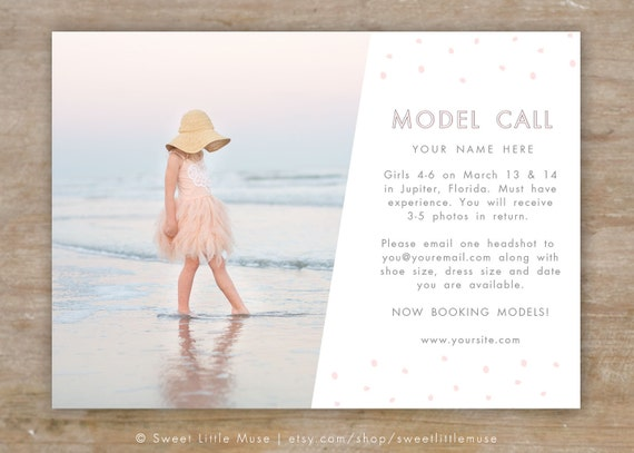 Model call template photography casting call 5x7 model call template photography casting call 5x7 photography marketing template pronofoot35fo Choice Image