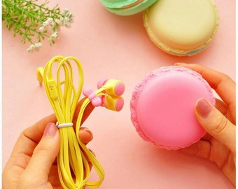 Macaroon Earbuds and Holder