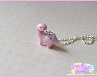 Little Dinosaur necklace pastel color cute and kawaii