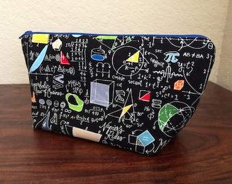 Math Science Engineering Open Wide Zipper Pouch
