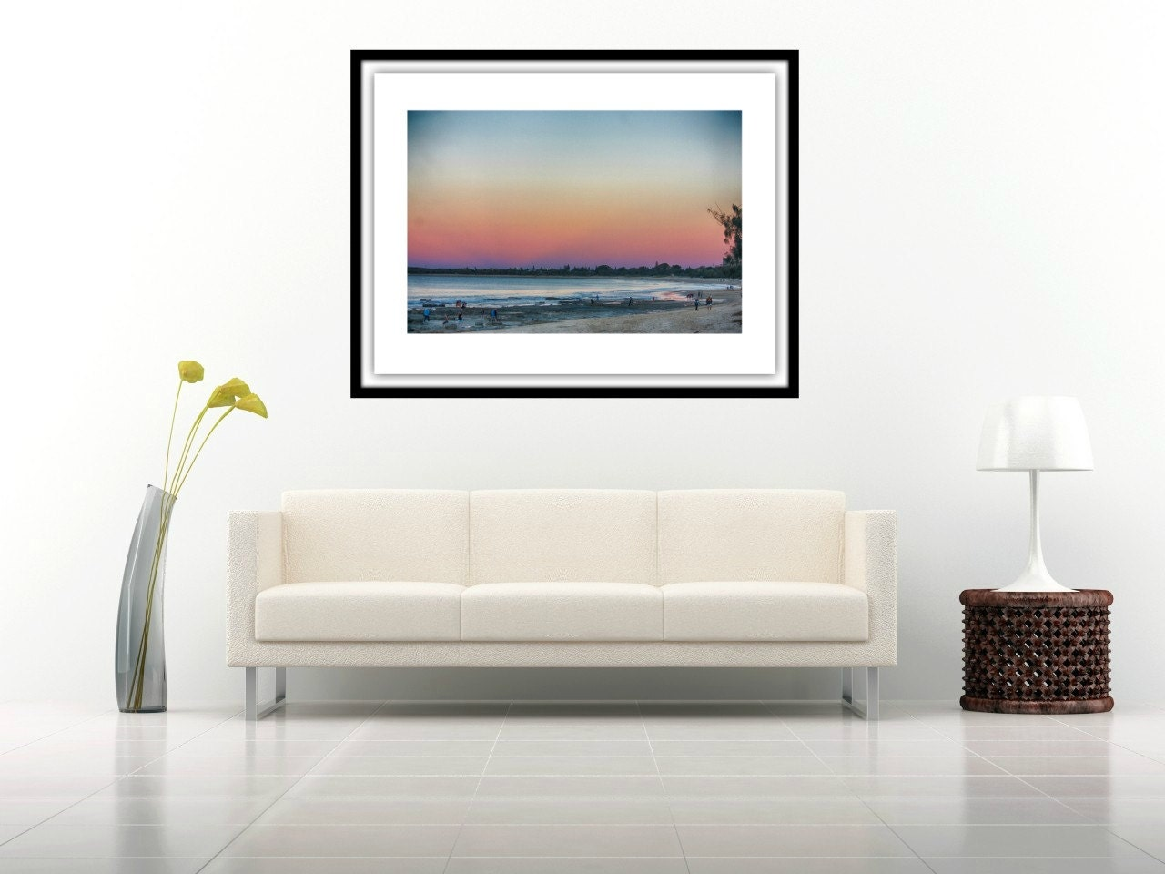 pink sky mooloolaba queensland australia home decor wall art fine