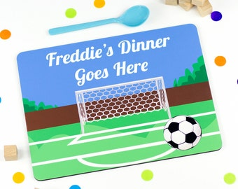 Childrens Placemat - Football - Personalized Placemats For Kids - PM003