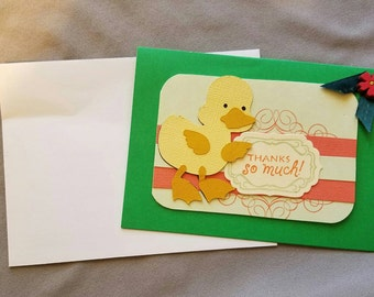 Thanks So Much Greeting Card w/ Duck