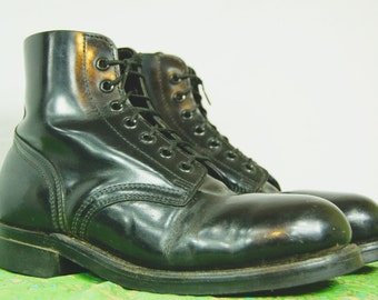 Vintage 90s Grunge Boots Biltrite Sole -  7-hole Steel Toe Military Army Boots - Combat Boot - D089