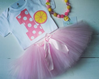 Pink Lemonade First Birthday Outfit