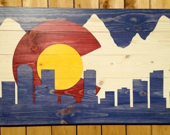 Colorado Flag by Colorado Joe's Denver Skyline - Small