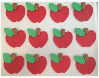 1 Dozen Fondant Apple Cupcake Toppers