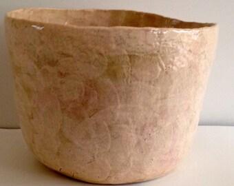 Shell-Steingzeug & glazes (height: 23x cm)