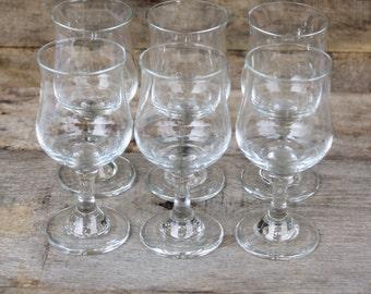 Vintage Cordial Glass Set of Six