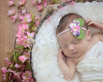 The Pink and Plum Fairy Kissed Headband/Hair Clip