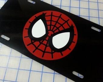 Spiderman Custom License Plate