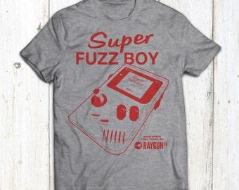 Super Fuzz Boy T-shirt (Gameboy Fuzz pedal) - Screen printed - Limited Edition