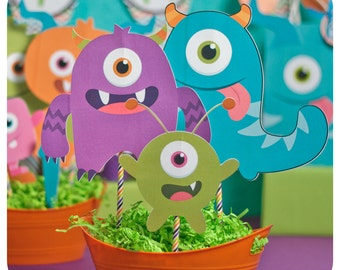 Little Monsters; Little Monsters Party; Monster Birthday Party; Little Monstersl Birthday Party;Little Monster; Little Monsters Centerpieces