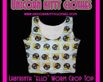 "Labyrinth ""Ello"" worm Crop Top"