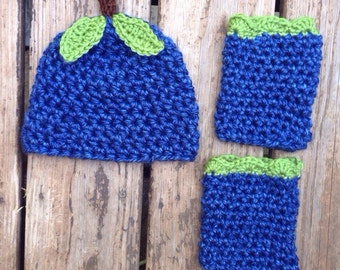 FREE SHIPPING Blueberry hat and leggings