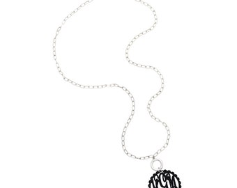 Monogrammed Preppy Scalloped Necklace