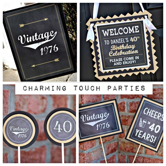 40th Birthday Party Idea For A Man: 40TH BIRTHDAY PARTY Decorations 40th Party Package 40th