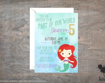 Under the Sea Invitation (25 Invitations)