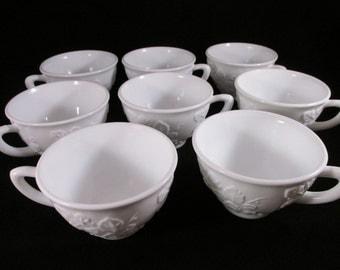 Vintage Milk  Glass Cups