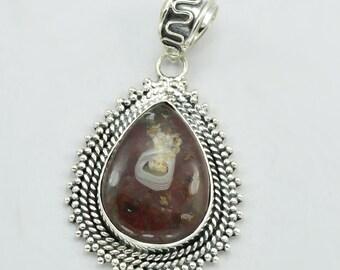 Agate Pendant - Stone Pendant - Beautiful silver Pendant, Gemstone Pendant - Solid sterling silver Pendant, New Arrival Pendant.