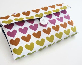 Cash Envelope Wallet | Cash Budget Wallet | Money Envelope System - Rainbow Hearts- Women's Wallet