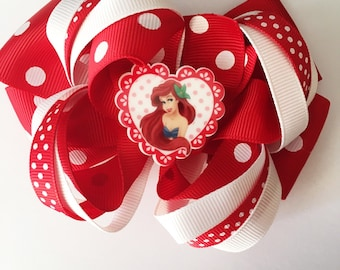 Mermaid large hair bow