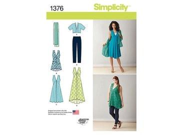 Simplicity 1376AA, Simplicity Sewing Pattern 1376AA, Misses Dress Pattern, MIsses Jacket Pattern, Plus Size Pattern, FREE SHIPPING, Sz 10-18