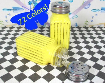Salt & Pepper Shakers in Bright Sunny Yellow
