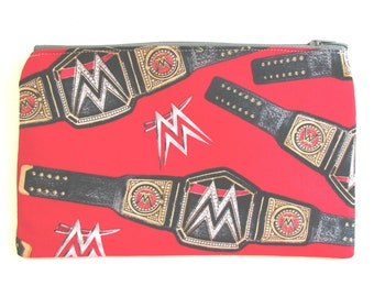 WWF Wrestling Fabric Pencil Case // WWF Wrestling Pencil Pouch // WWF Wrestling Party //