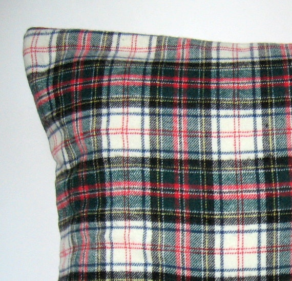 Items similar to Plaid Flannel Pillow Cover, Throw Pillow, Flannel, Plaid, Winter Pillow Cover ...