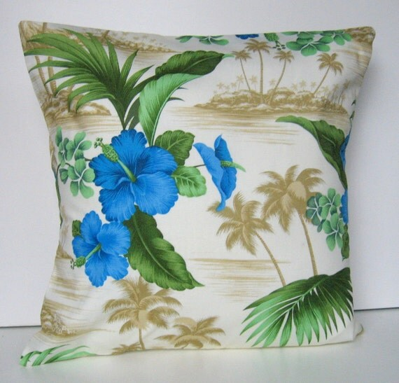 Items similar to Summer Pillow Cover, Tropical Pillow Cover, Throw Pillow, Tropical Flowers ...