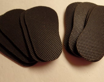 5 Sets of--Black Rubber Shoe Soles-- Covers the Bottom of 5 pairs of shoes for 18 inch dolls- such as the American Girl Dolls