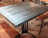 Table Tops - Zinc Bistro Table Top (Or Stainless) Food Safe (Made to Order)