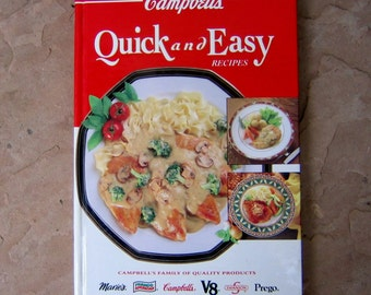Campbell's Quick and Easy Recipes Cookbook, 1993 Campbells Cookbook, Vintage Cook Book