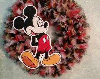 Mickey and Minnie Mouse Tulle Wreaths