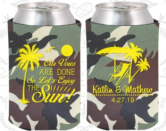 Camouflage Wedding, Can Coolers, Camouflage Wedding Favors, Camouflage Wedding Gift, Camouflage Party Decorations (449)