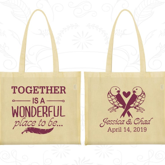cotton tote bag tote bags wedding tote bags personalized tote