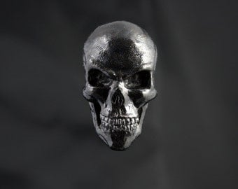Skull Fridge Magnet - Black Pearl color