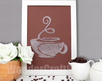 coffee cup kitchen decor, coffee sign, kitchen ornament, coffee wall art, coffee decor, coffee gift, coffee home decor, coffee lover gift